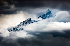 Mountains in the Clouds Grant Teton Peaks Royalty Free Stock Image