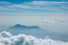 Mountains in clouds. Kodaikanal, Tamil Nadu Royalty Free Stock Image