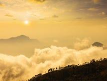 Mountains in clouds. Kodaikanal, Tamil Nadu Stock Images