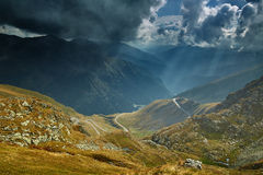 Mountains and clouds landscape Royalty Free Stock Photos