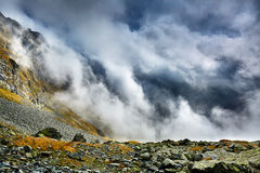 Mountains and clouds landscape Royalty Free Stock Image