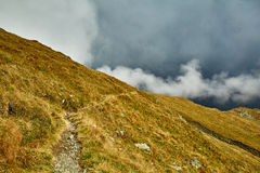 Mountains and clouds landscape Royalty Free Stock Images