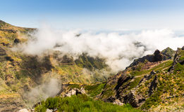 Mountains in clouds landscape Stock Photography