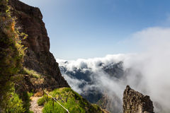 Mountains in clouds landscape Royalty Free Stock Images