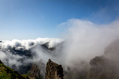 Mountains in clouds landscape Royalty Free Stock Photography