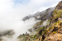 Mountains in clouds landscape Stock Photos