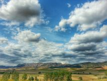 Mountains and clouds landscapes Royalty Free Stock Photo