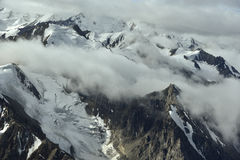 Mountains in clouds Royalty Free Stock Images
