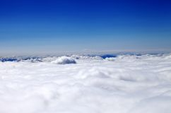 Mountains in clouds at nice sun day Royalty Free Stock Photo