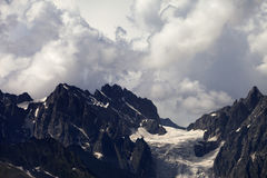 Mountains in clouds before rain Royalty Free Stock Images