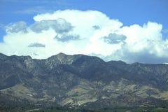 Mountains clouds sky Santa Paula California Stock Image