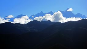 Mountains and clouds in Tibet Royalty Free Stock Photography