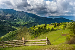 Mountains in clouds in Ukraine Royalty Free Stock Photography