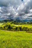 Mountains in clouds in Ukraine Royalty Free Stock Photos