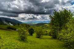 Mountains in clouds in Ukraine Stock Image