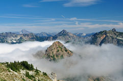 Mountains and Clouds. Royalty Free Stock Photos