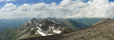 The mountains. Mountains and cloudscape in Caucasus Royalty Free Stock Photos