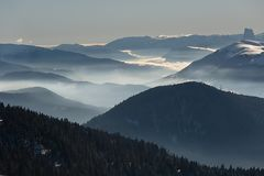 Mountains cloudy landscape Royalty Free Stock Image