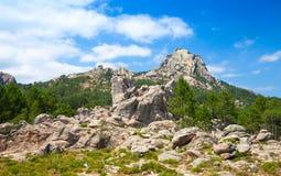 Mountains and cloudy sky, Corsica, France Stock Photos