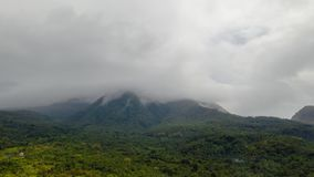 Mountains in cloudy weather, timelapse. Philippines, Camiguin. stock video