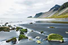 Mountains on the coast of the Atlantic ocean, Iceland. Mountains on the coast of the Atlantic ocean, Southern Iceland Stock Photography