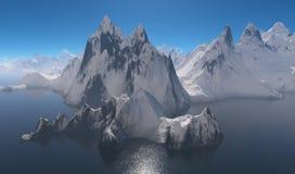 Mountains on the coast. Stock Photos