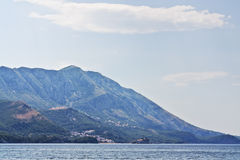 The mountains on the coast of Montenegro Stock Photos