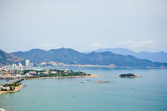 The mountains and the coast of Nha Trang Royalty Free Stock Image