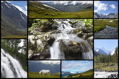 Mountains collage Royalty Free Stock Photos