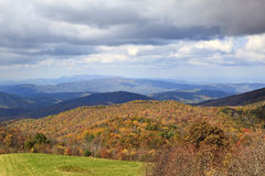 Mountains in Color. View from Max Patch Bald in the North Carolina mountains in autumn Royalty Free Stock Photography