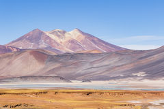 Mountains and colours in Los Flamencos National Reserve Stock Photography
