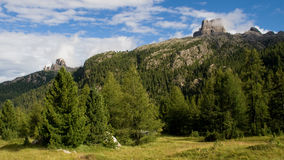 Mountains of Cortina d'Ampezzo Stock Images