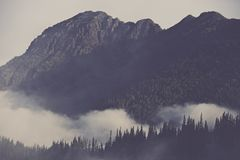 Mountains Covered By Clouds Royalty Free Stock Image
