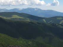 Mountains covered by forest Royalty Free Stock Photography