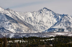 Mountains covered with snow Royalty Free Stock Photos