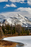 Mountains covered with snow Royalty Free Stock Images