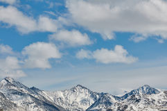 Mountains covered with snow Stock Image