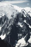 Mountain and snow peaks of France royalty free stock photos