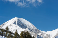 Mountains covered with snow in Pirin Royalty Free Stock Photo