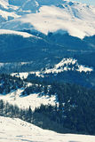 Mountains covered in snow Royalty Free Stock Image