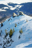 Mountains covered in snow. Mountains in Romania, covered in snow Royalty Free Stock Images