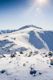 Mountains covered with snow Royalty Free Stock Photo