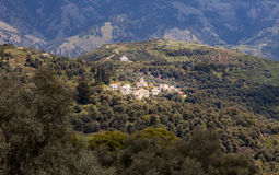 Mountains on Crete with church Royalty Free Stock Photo