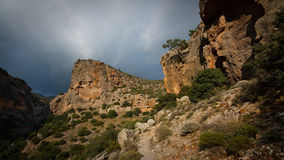 In the mountains of Crete, Greece. Royalty Free Stock Images