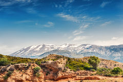Mountains on the Crete island, Greece. Royalty Free Stock Images