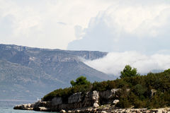 Mountains in Croatia Royalty Free Stock Photography