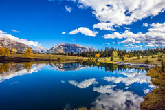 Mountains and cumulus clouds Royalty Free Stock Photo