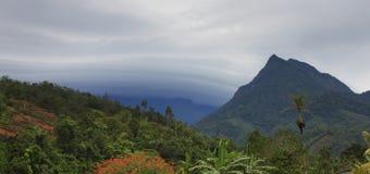 Mountains deep inside Borneo Royalty Free Stock Photo