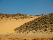 Mountains the desert. Africa Royalty Free Stock Photo