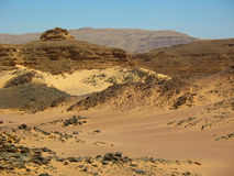 Mountains the desert. Africa Royalty Free Stock Photography